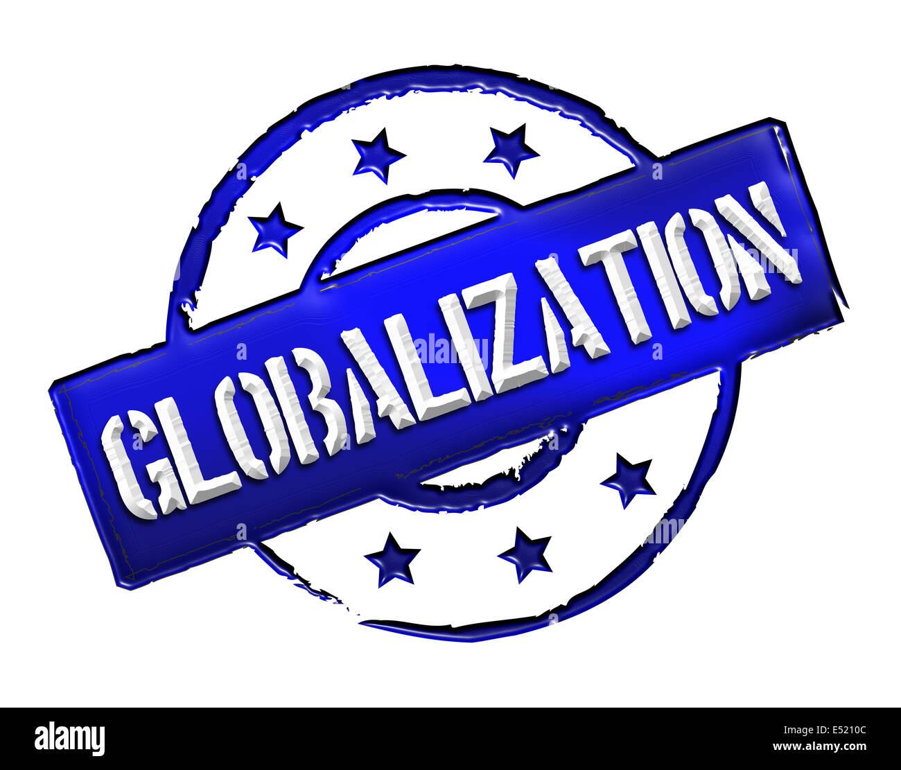 Stamp - globalization - Stock Image