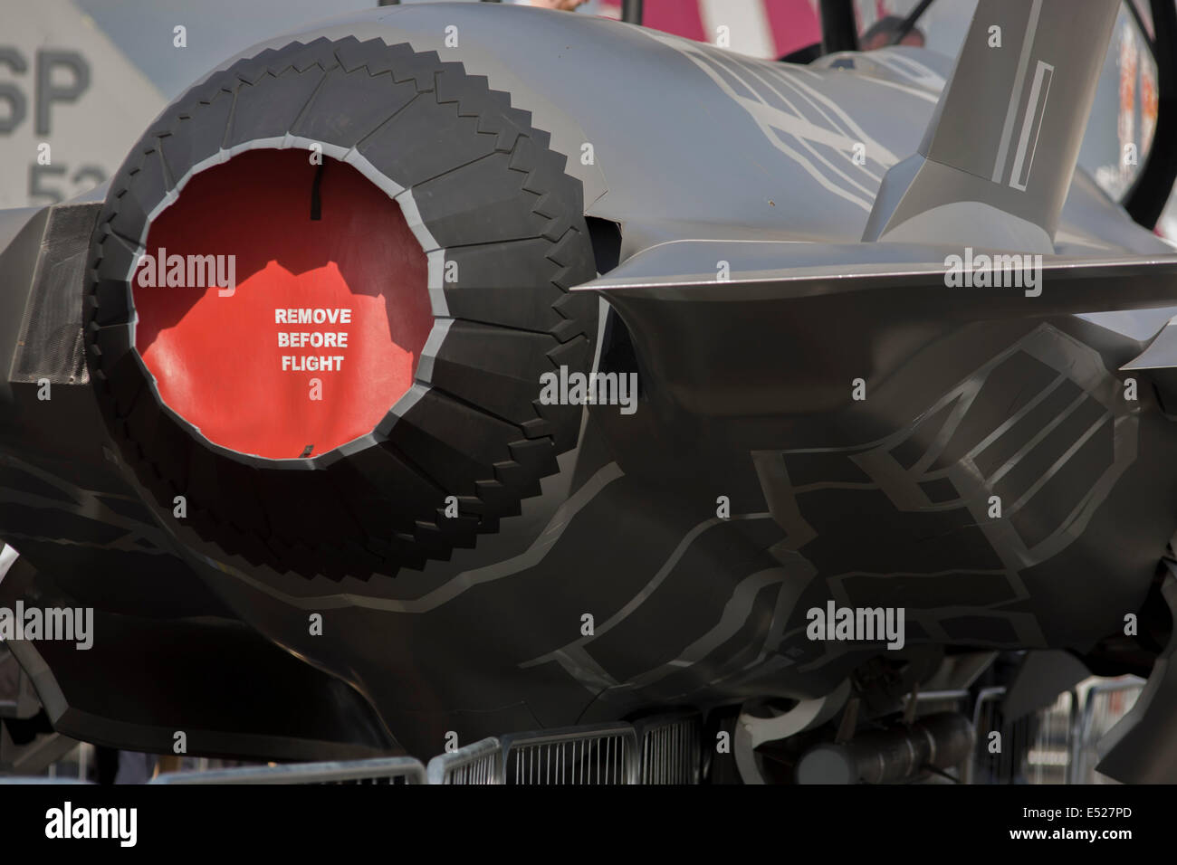 Lockheed-Martin stealth F-35 Joint Strike Fighter exhibited at the Farnborough Air Show, England. - Stock Image