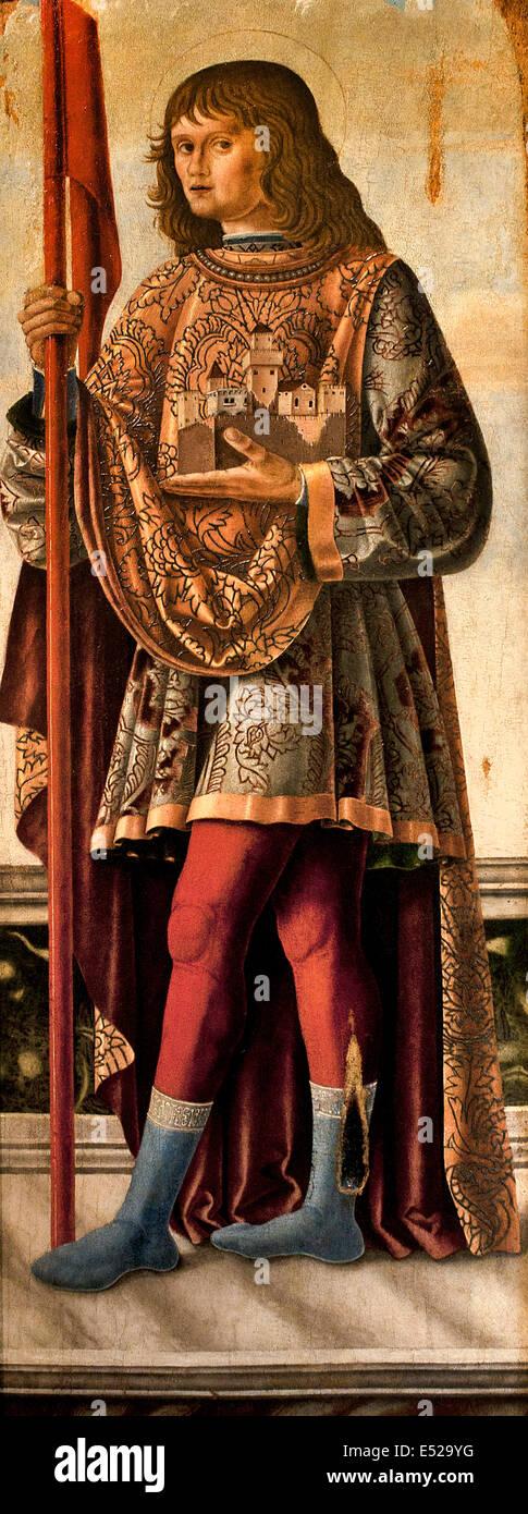 St Saint Liberal 1475 Leonardo Boldrini 1452-1498 Italy Italian - Stock Image