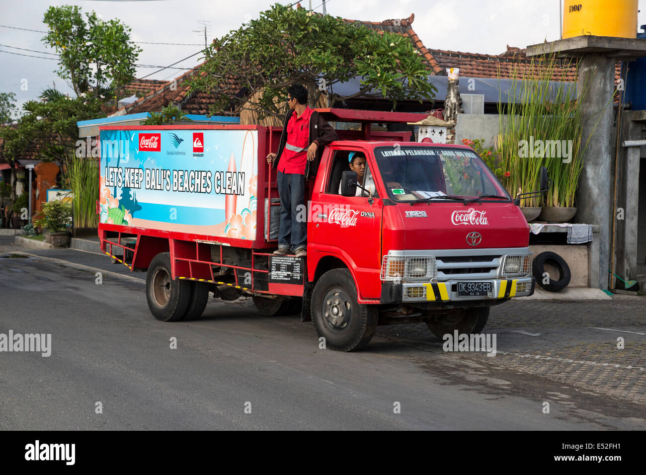 Bali, Indonesia.  Public Cleanliness Campaign: Keep Bali's Beaches Clean. - Stock Image