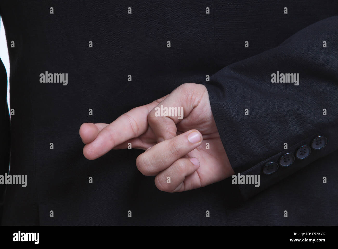 Fingers crossed - Stock Image