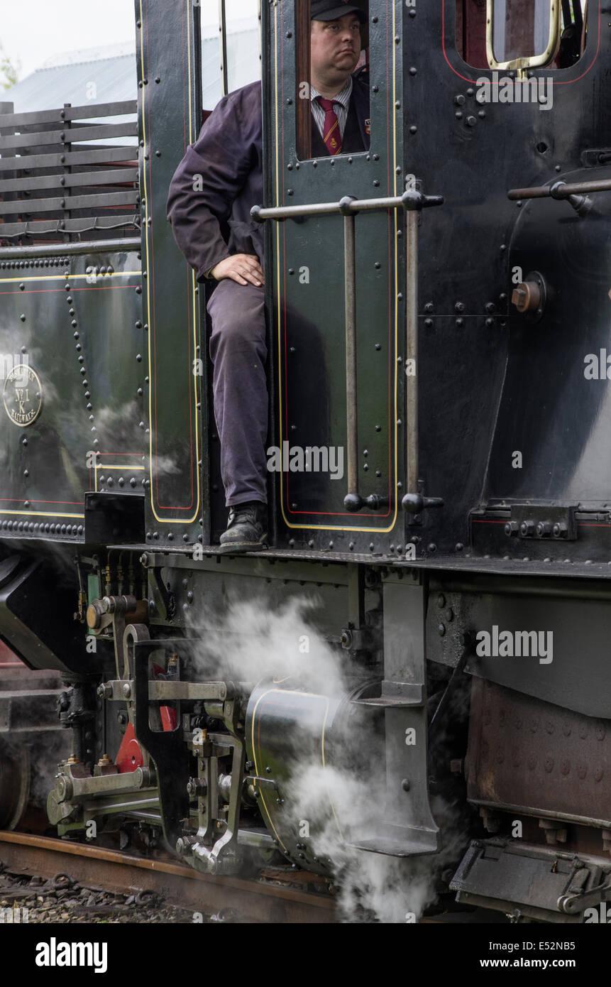 Welsh Highland Heritage Railway, Porthmadog, Gwynedd - Stock Image
