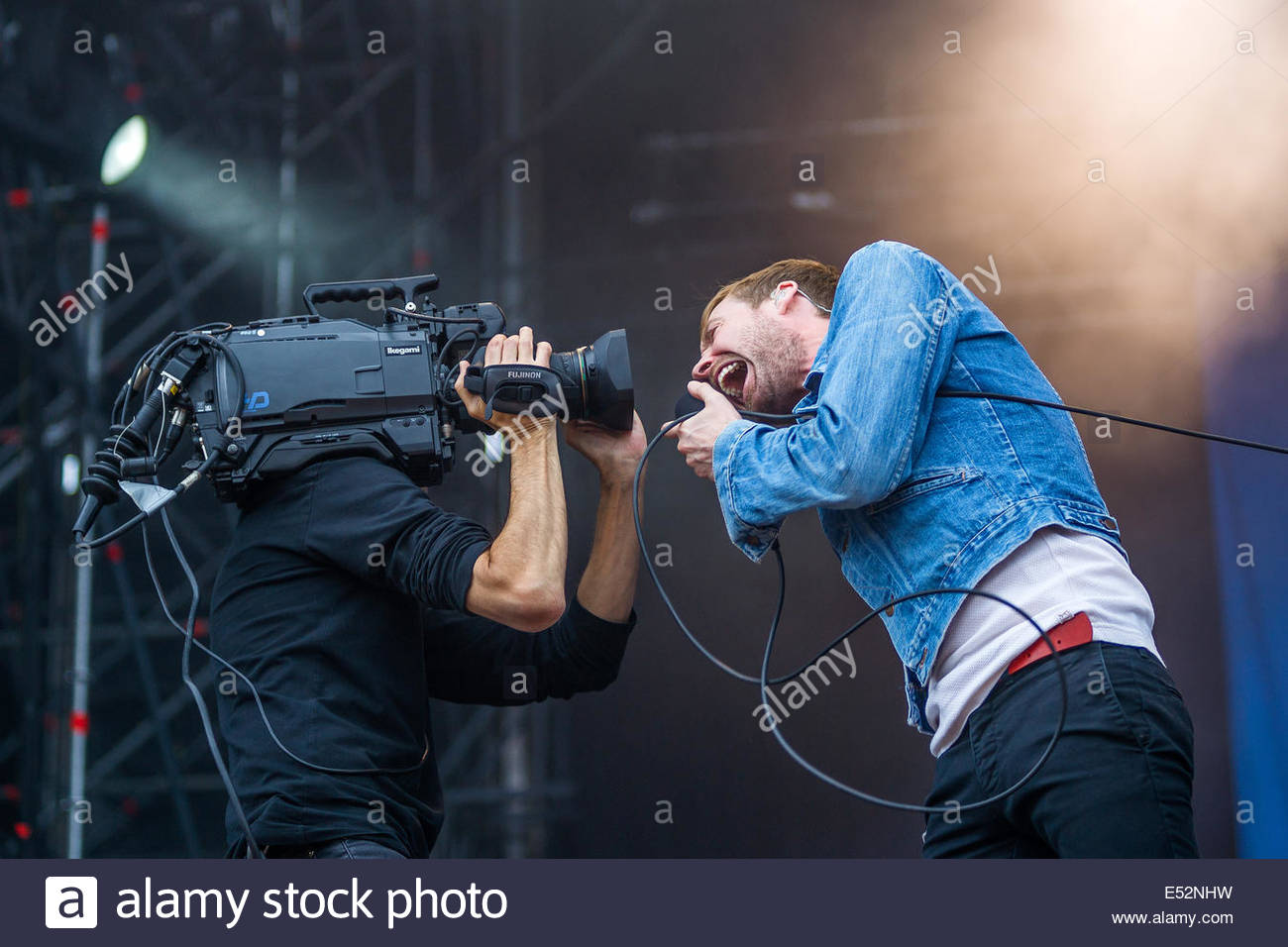 Kaiser Chiefs performing live - Stock Image