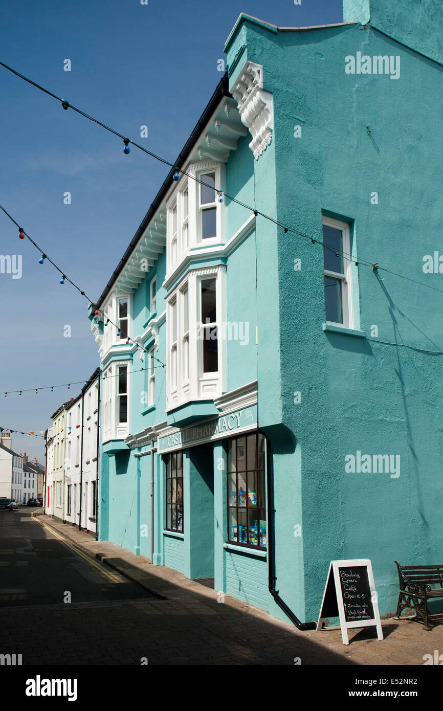Isle of Man, Castletown, Town Centre, Bank Street - Stock Image