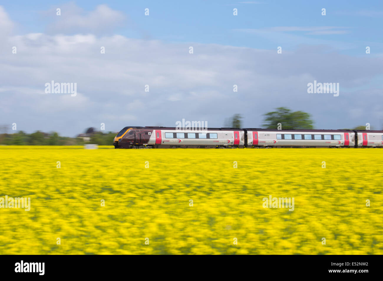 Cross Country train, Great Britain, UK - Stock Image