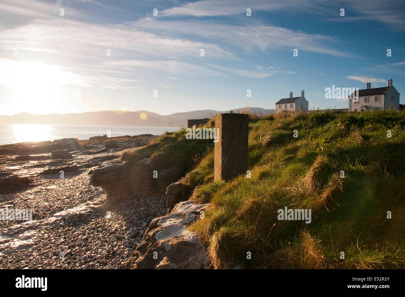 Autumn sunrise at Penmon Point, Anglesey Wales UK Stock Photo