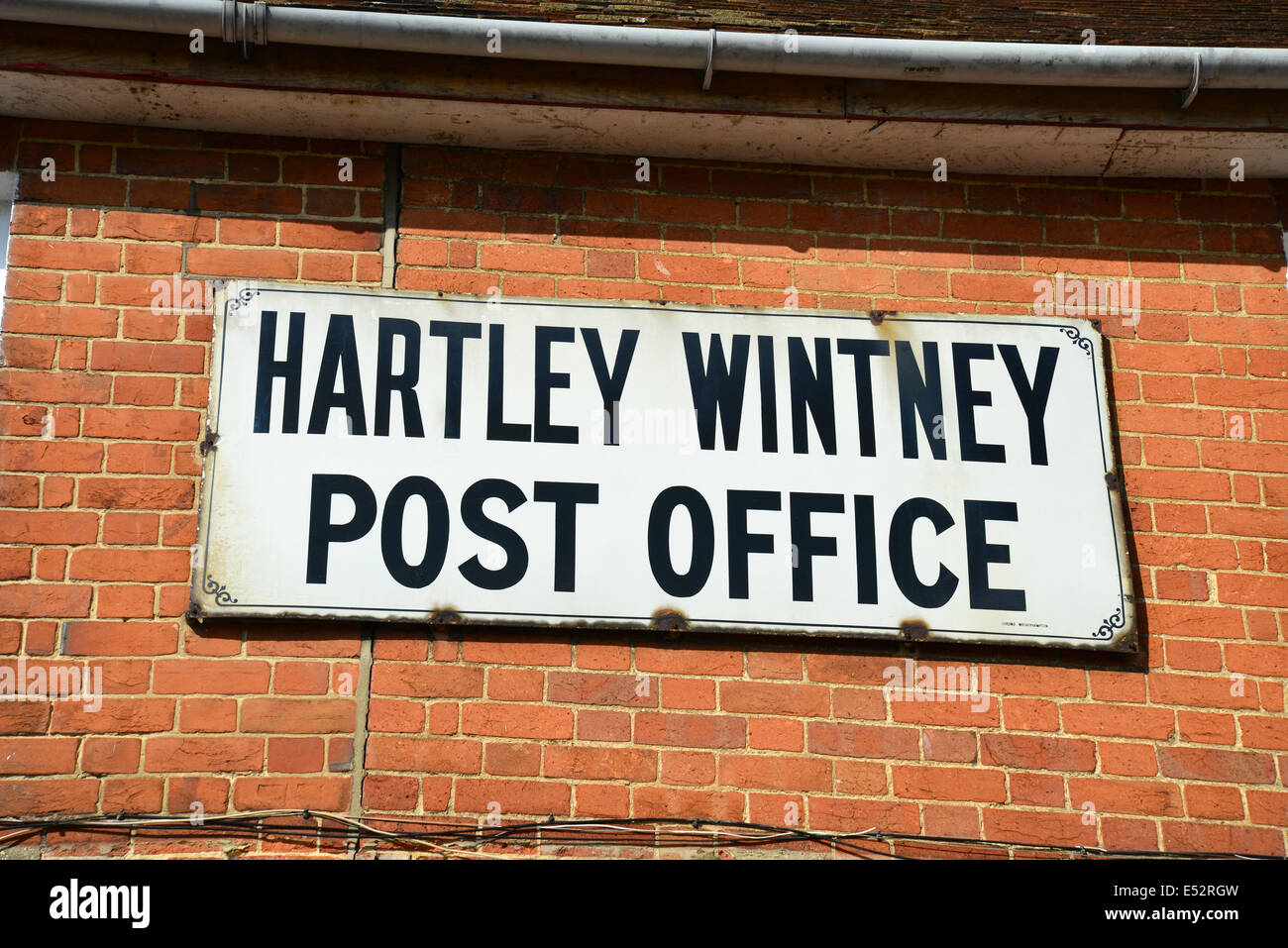 Vintage Hartley Wintney Post Office Sign, The High Street, Hartley Wintney,  Hampshire, England, United Kingdom