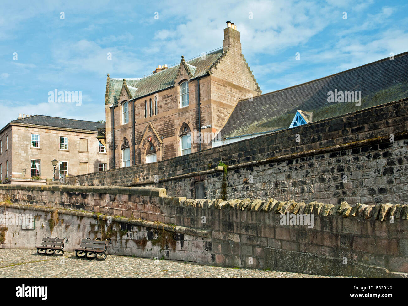 The Quay Walls at Berwick on Tweed Northumberland North of England near the Scottish Border - Stock Image