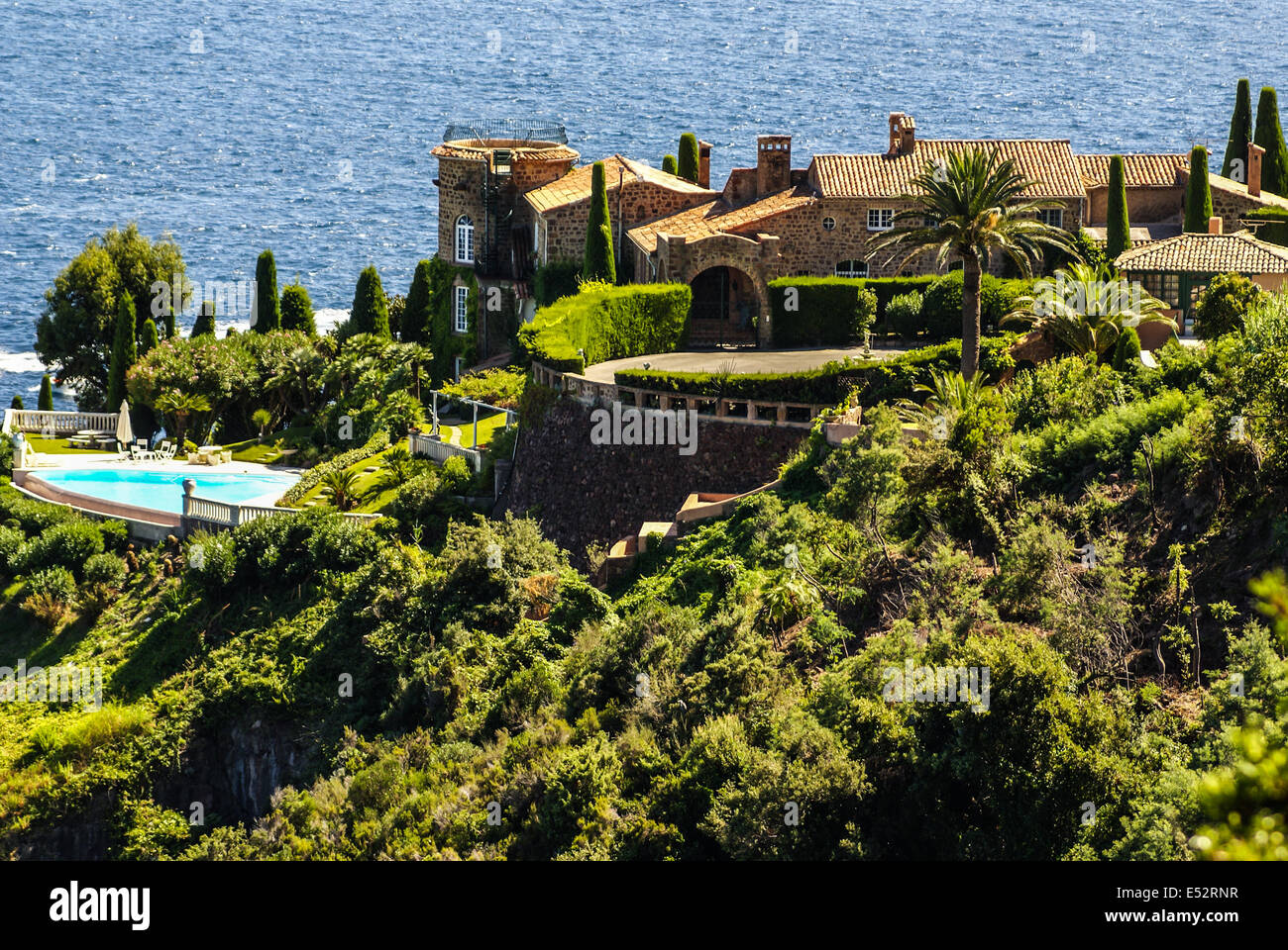 Pretty house in Antibes. Antibes is a resort town in the Alps-Maritimes department in southeastern France between Stock Photo