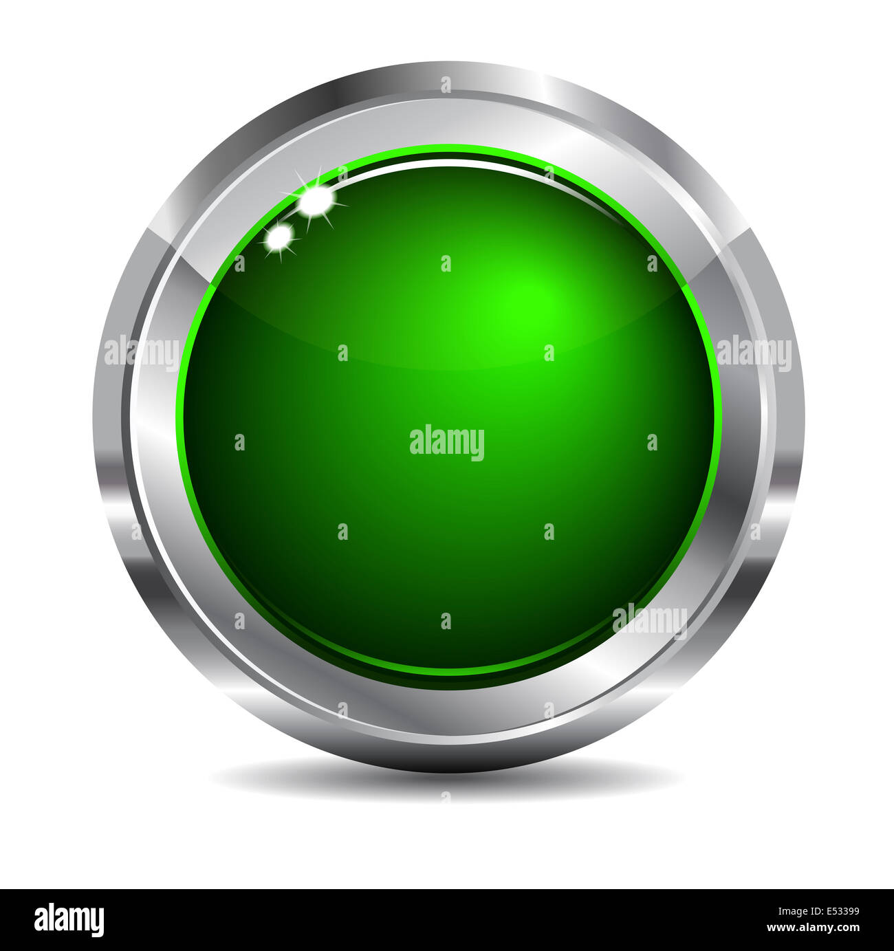 Blank Green Web Site and App Navigation Button - Stock Image