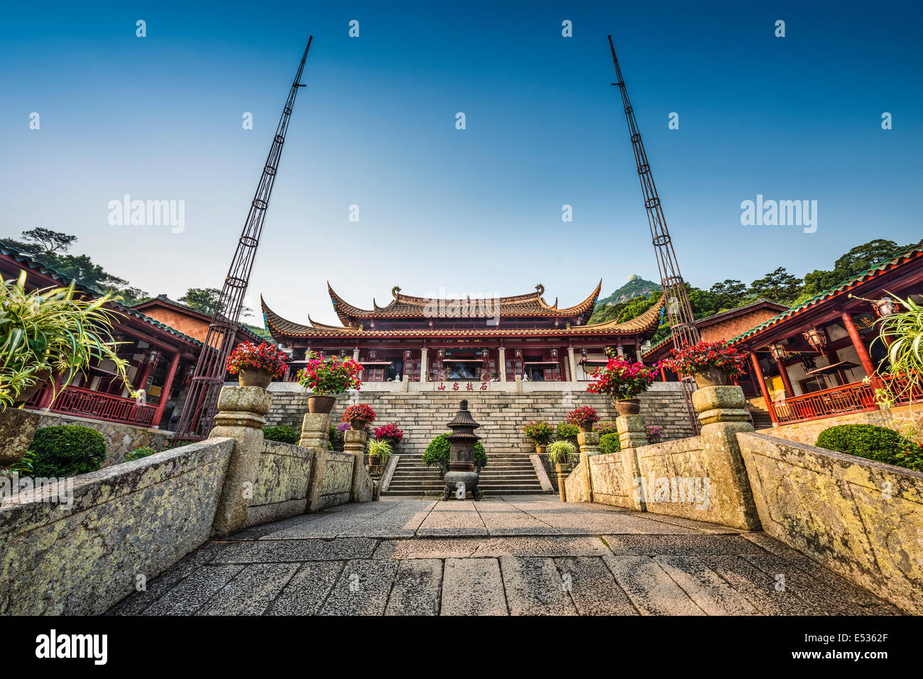 Fuzhou, Fujian at Yongquan Temple on Gu Shan Mountain. - Stock Image