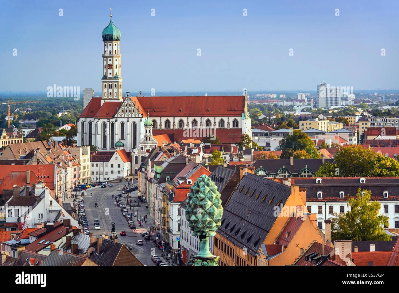 Augsburg, Germany downtown skyline. - Stock Image