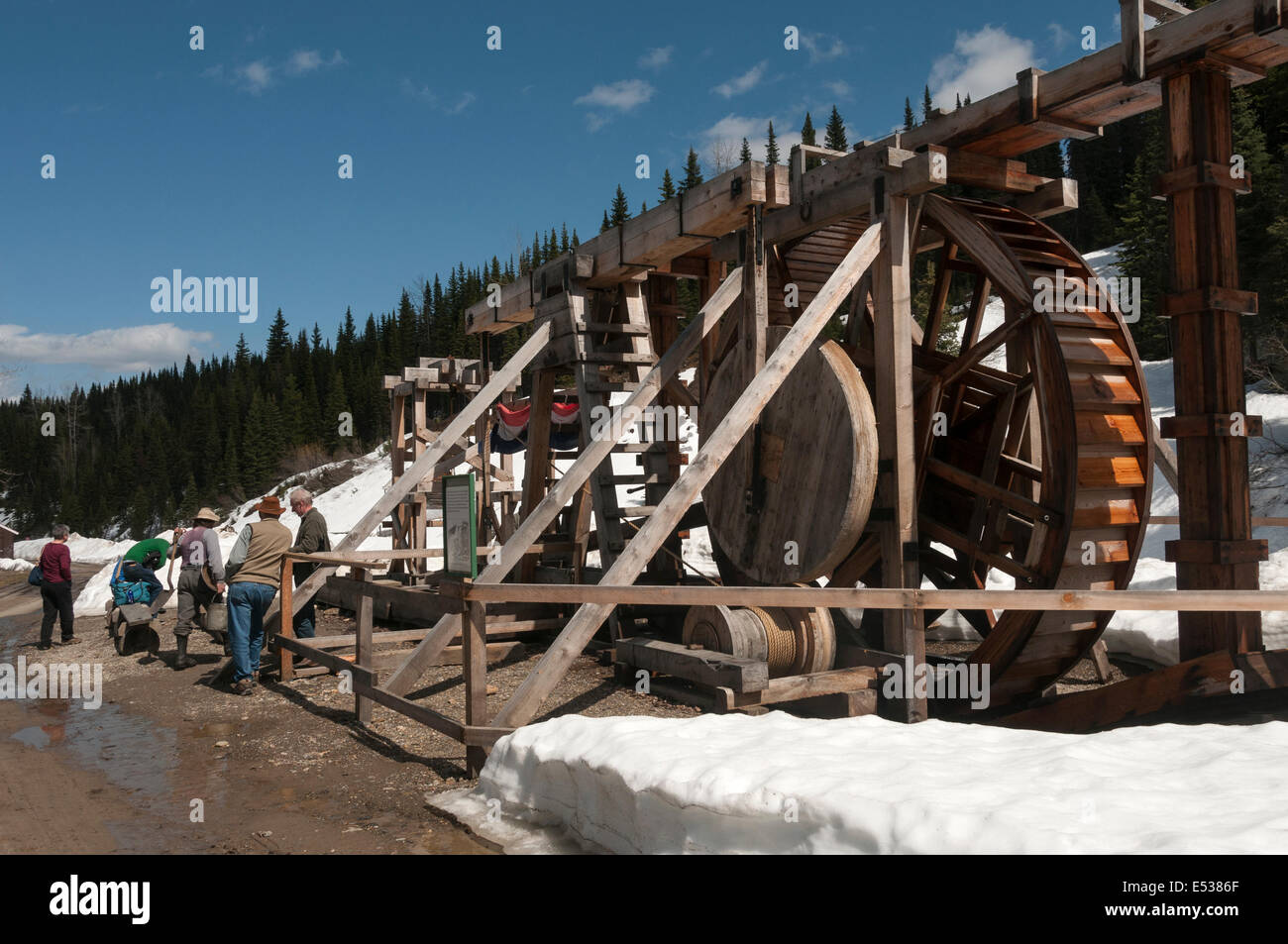 Elk203-3299 Canada, British Columbia, Barkerville Historic Town, gold sluice - Stock Image