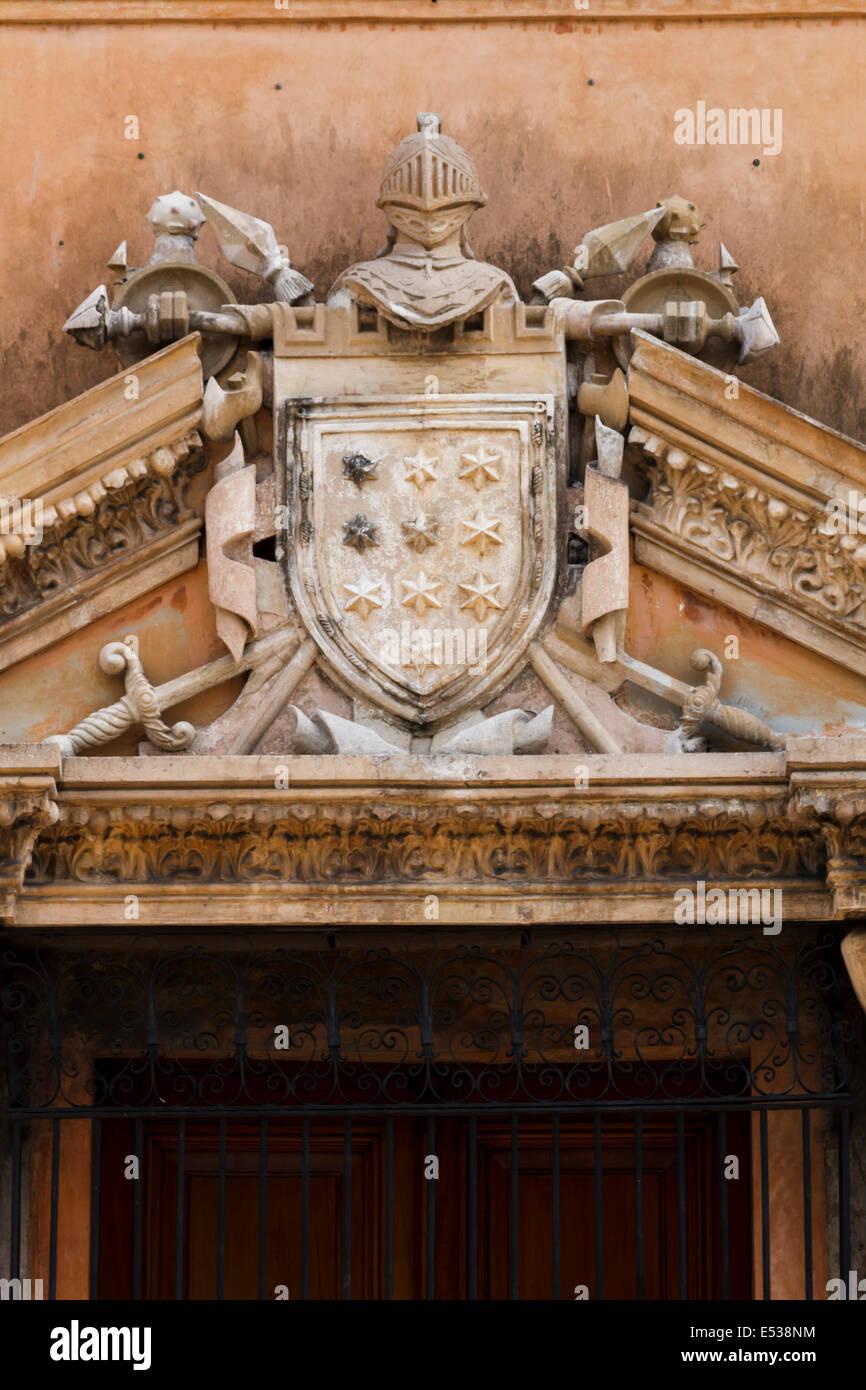 Casa de Montejo coat of arms, Mérida Yucatán Stock Photo