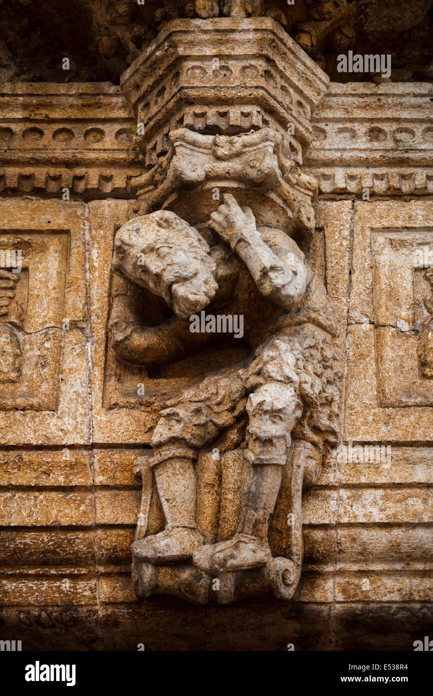 Gargoyle in Casa de Montejo, Mérida Yucatán México Stock Photo