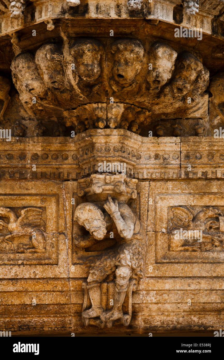 Gargoyles in Casa de Montejo, Mérida Yucatán México Stock Photo