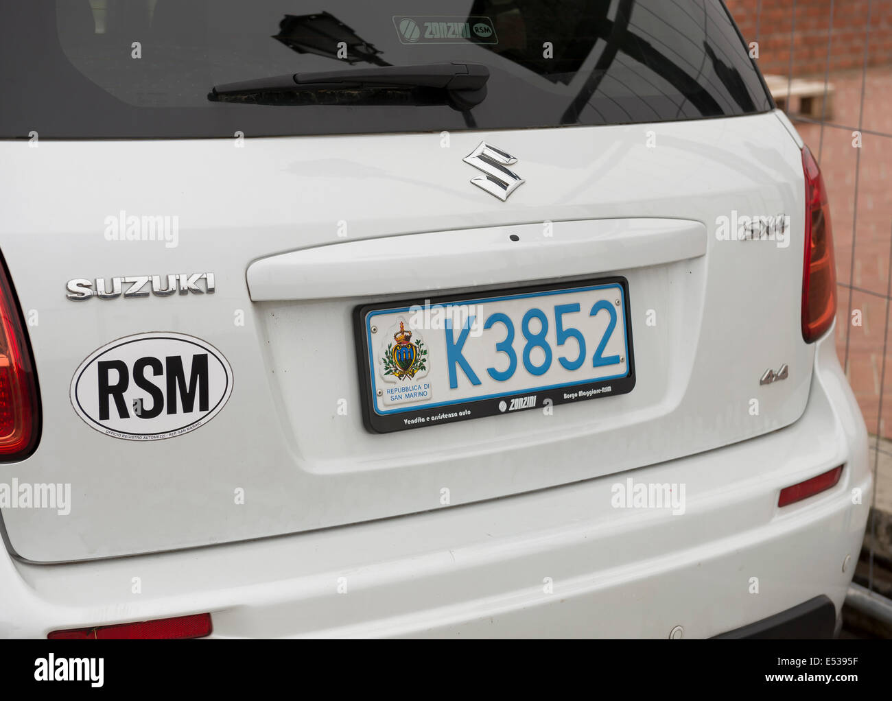SanMarino,Italy-April 05,2014:Cars with number plates San Marino ...