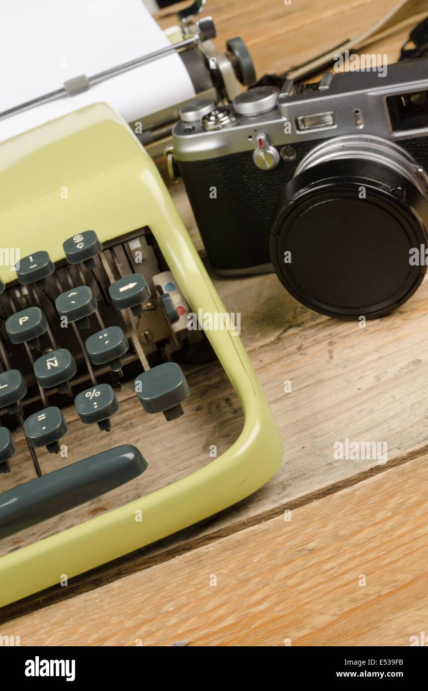 d45eedda79baa Retro typewriter and camera