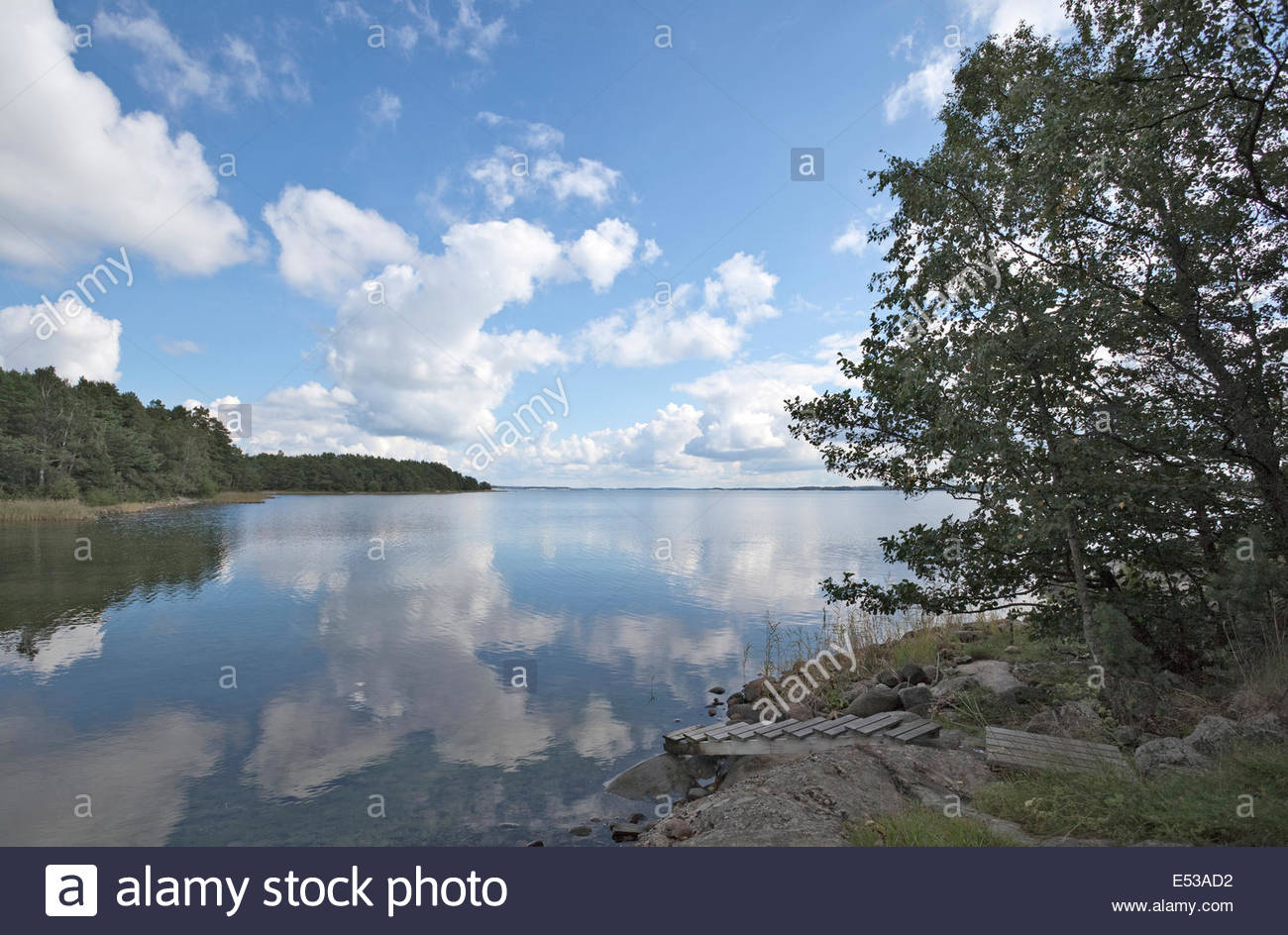 Beautiful summer day in the archipelago of Finland - Stock Image