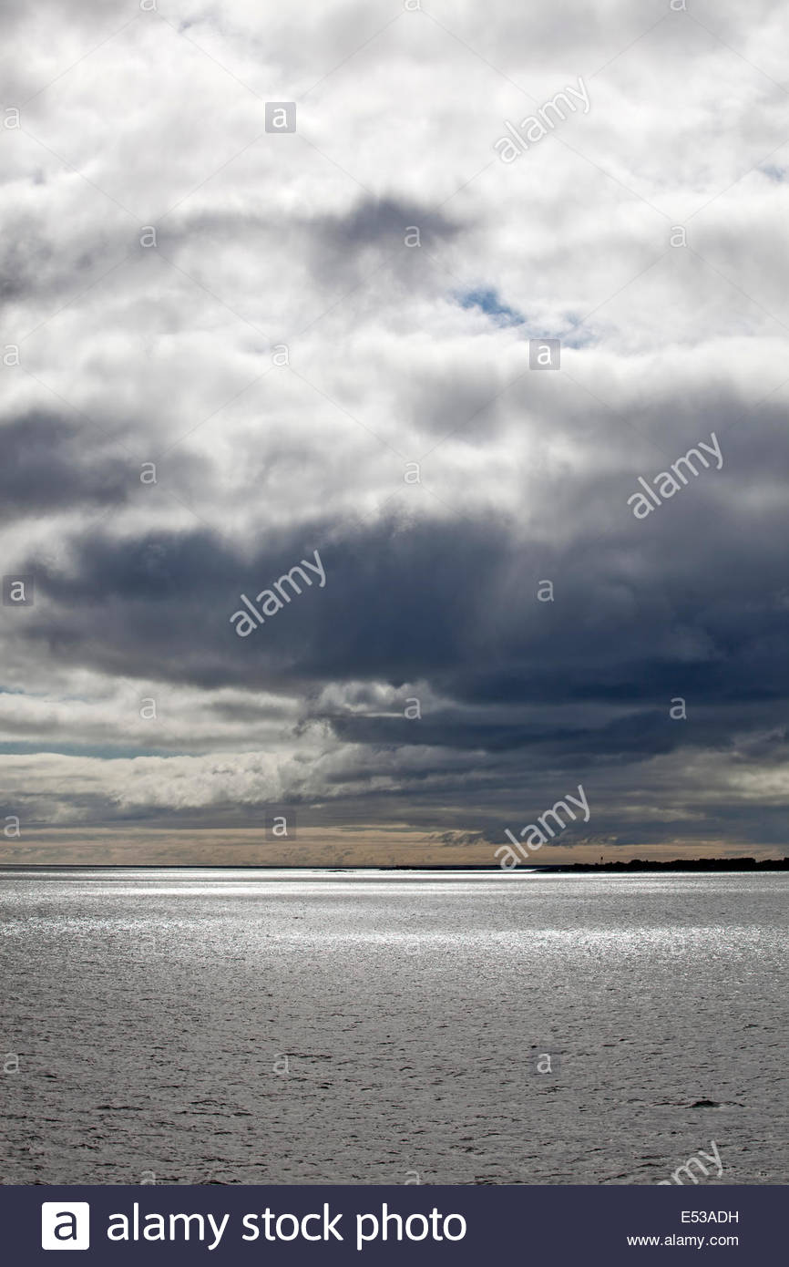 Cloudy summer day - Stock Image