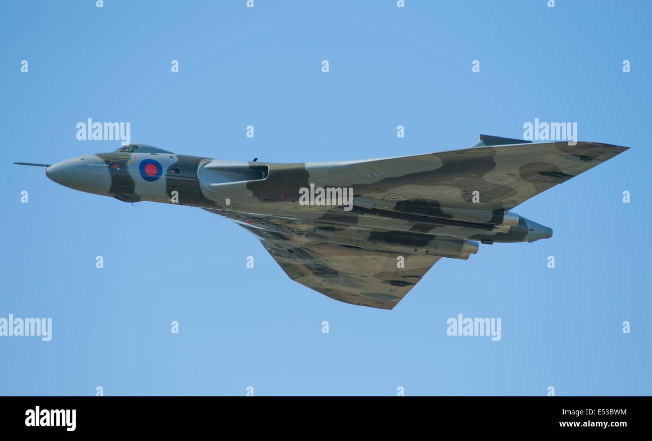 Farnborough Aerodrome, Hampshire UK. 18th July 2014. The international aerospace exhibition is the UK's biggest - Stock Image