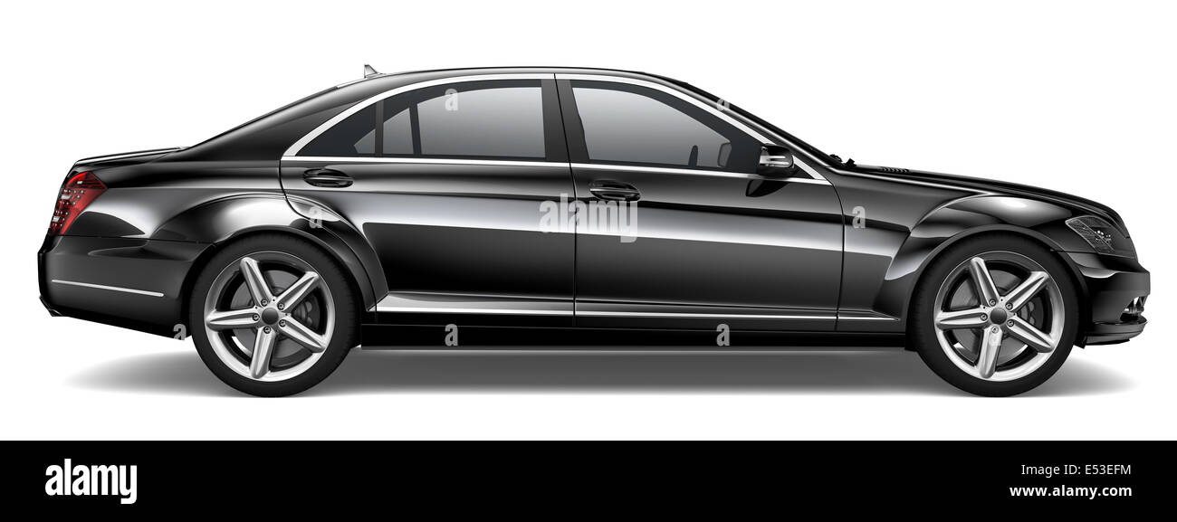 Black Luxury Car - Stock Image