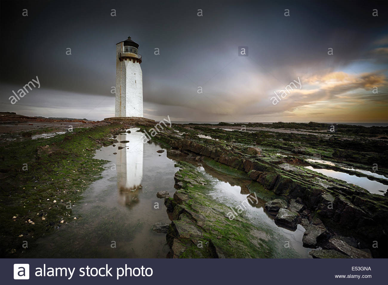 Southerness lighthouse - Stock Image