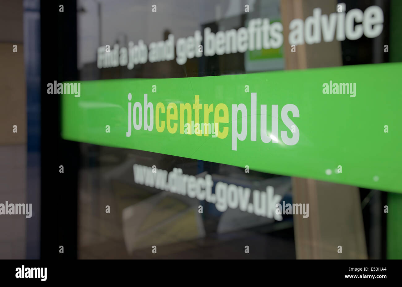 Job centre plus office  in England - Stock Image