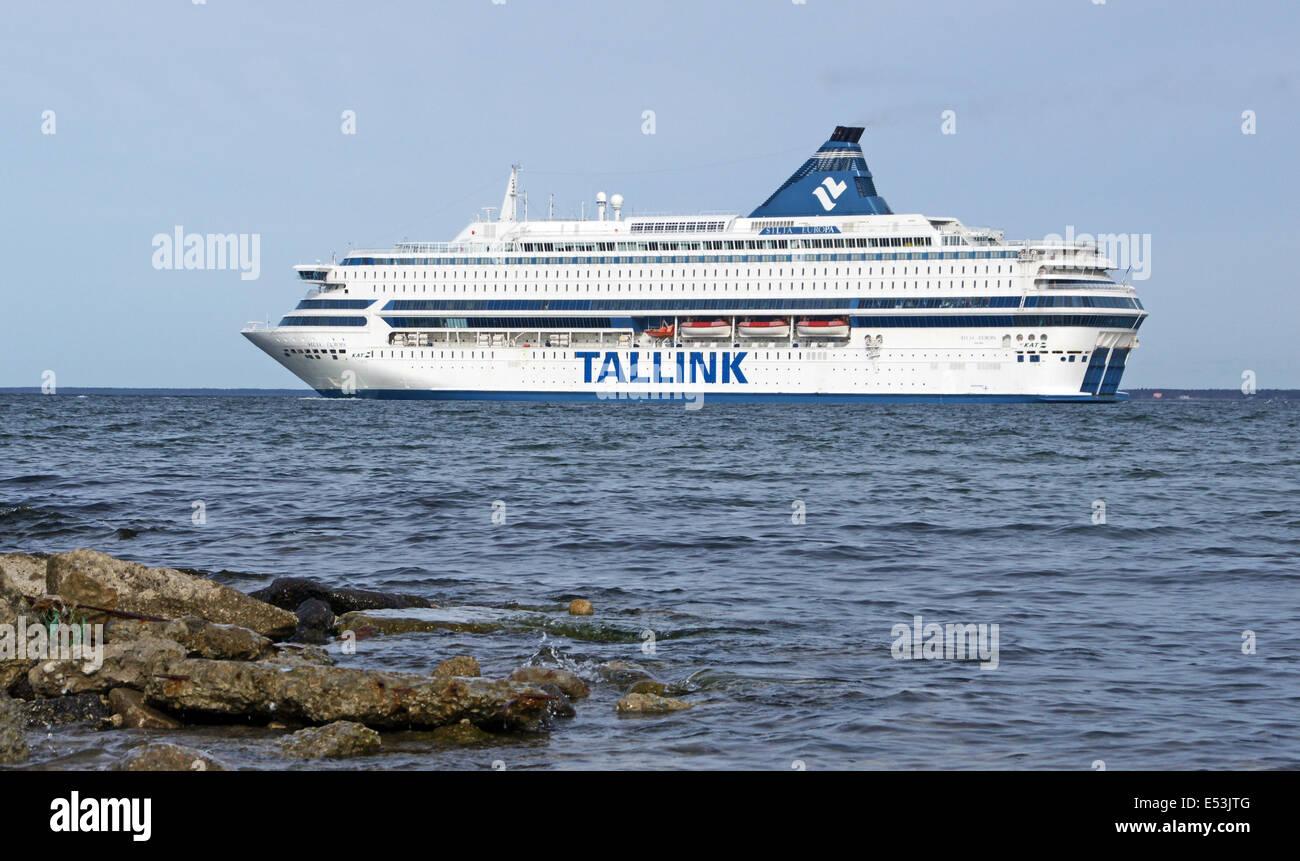 Tallink ferry Silja Europa off Helsinki in Finland - Stock Image