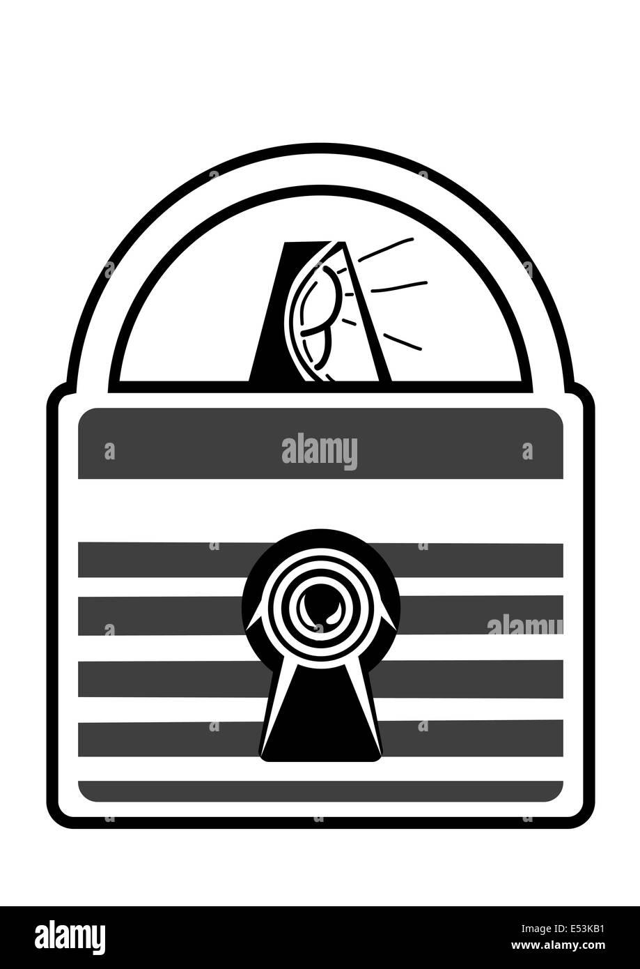 lock with alarm - Stock Image