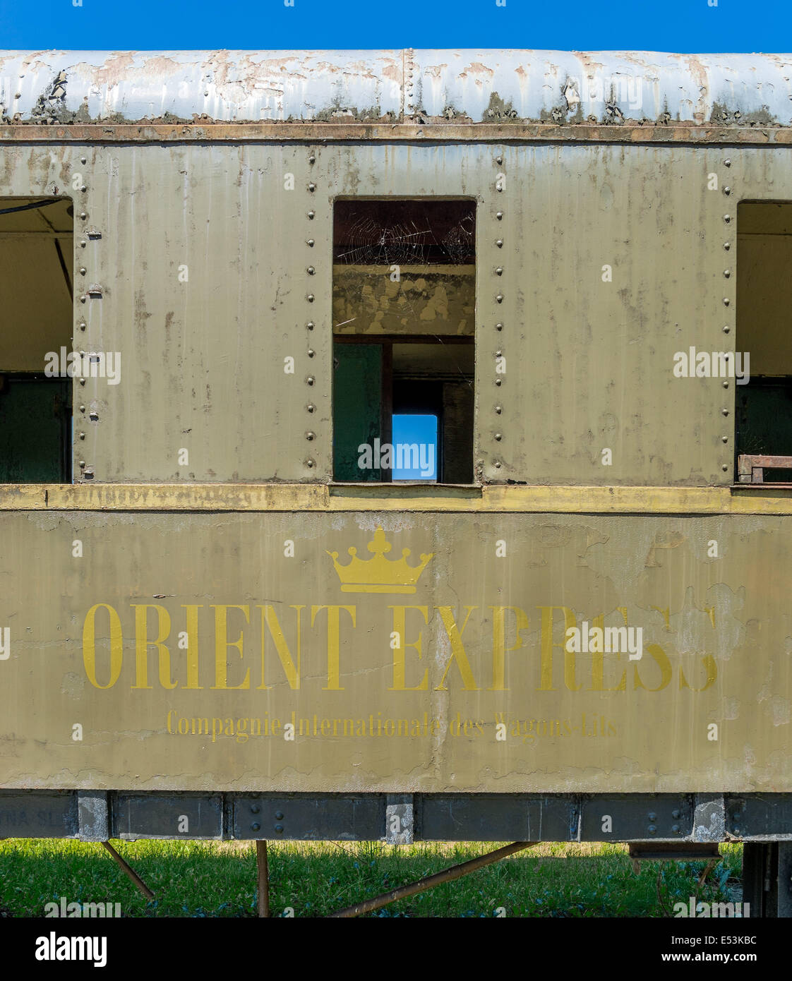 Former Orient Express carriage from nineteen twenties - Stock Image