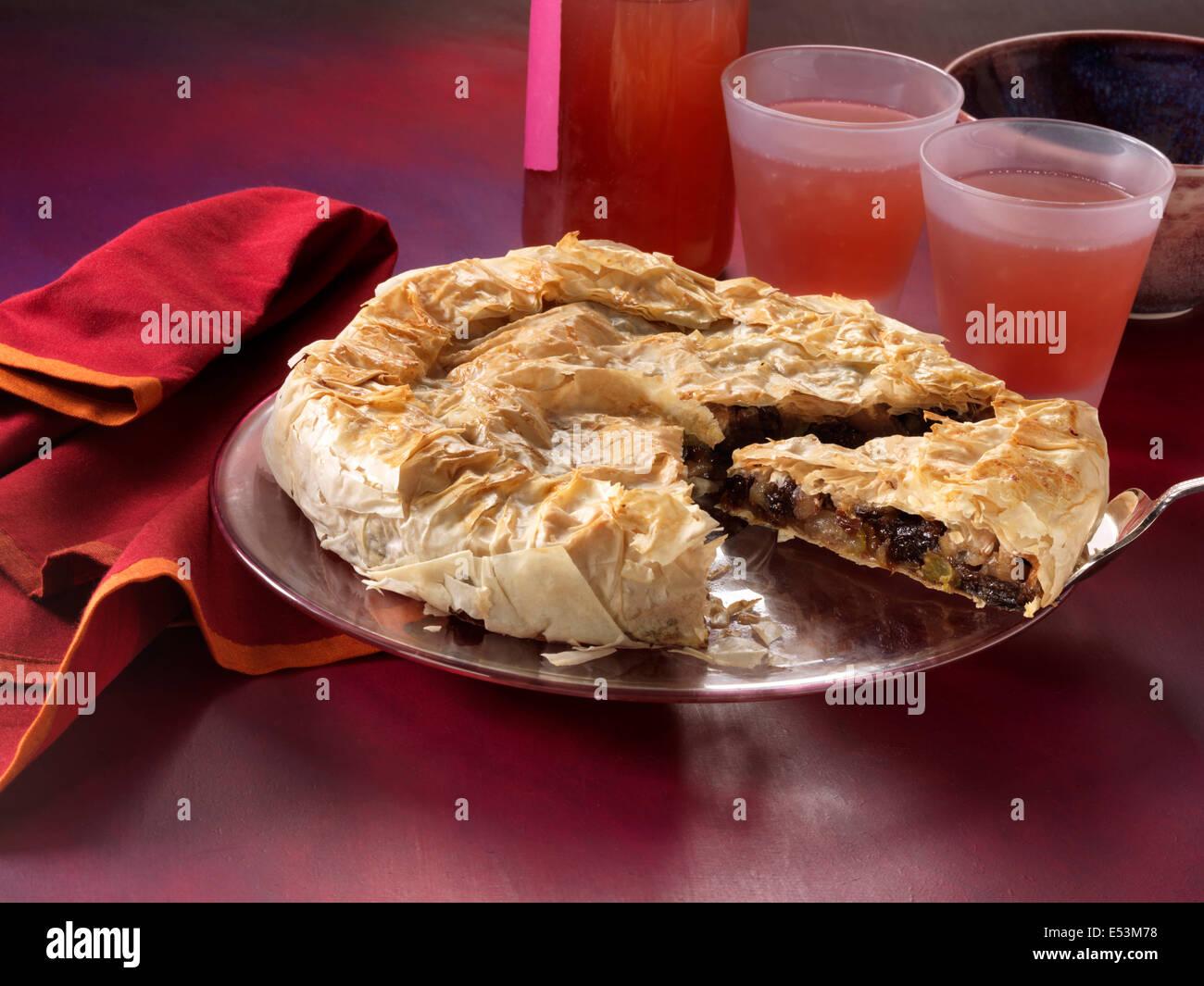 phyllo apple pie Stock Photo