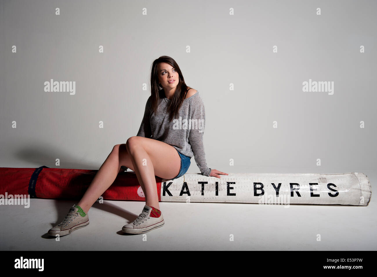 Katie Byres pole vaulter for England and the UK, studio portrait - Stock Image