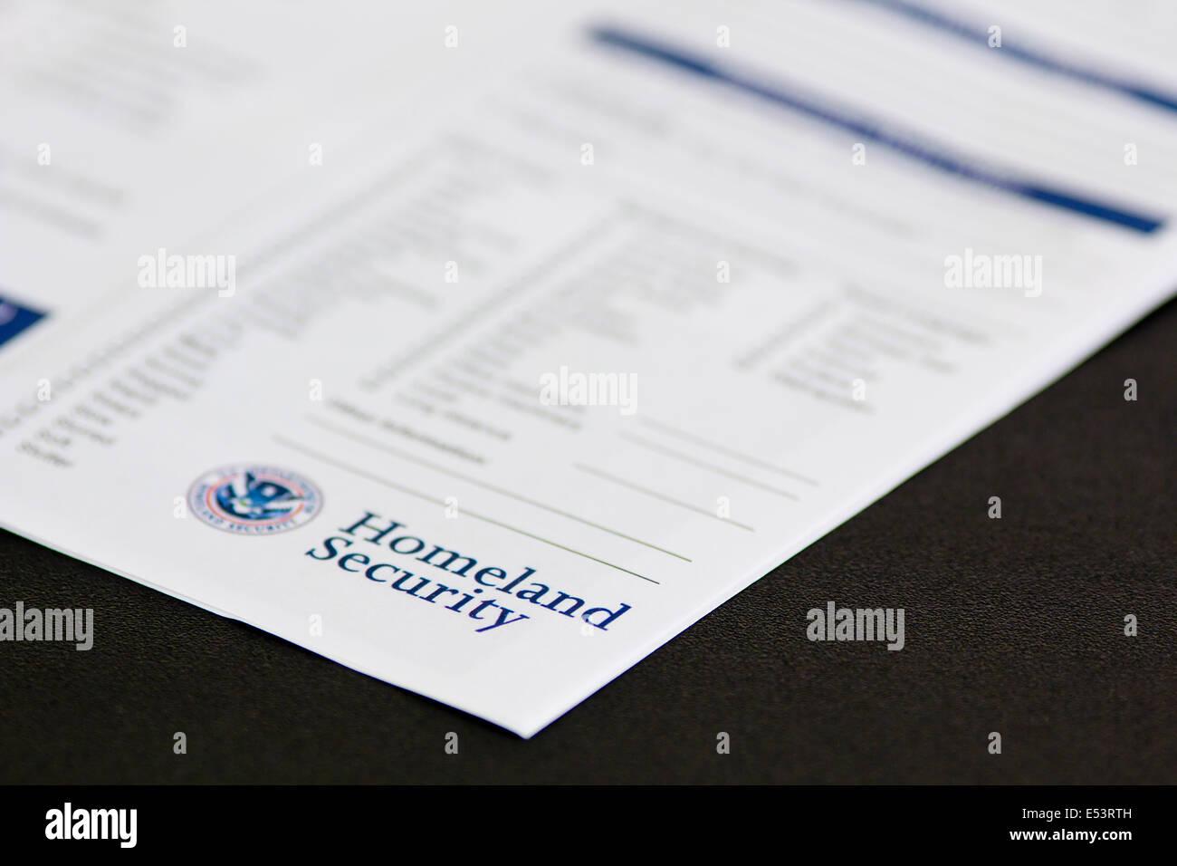 """homeland security"" Stock Photo"