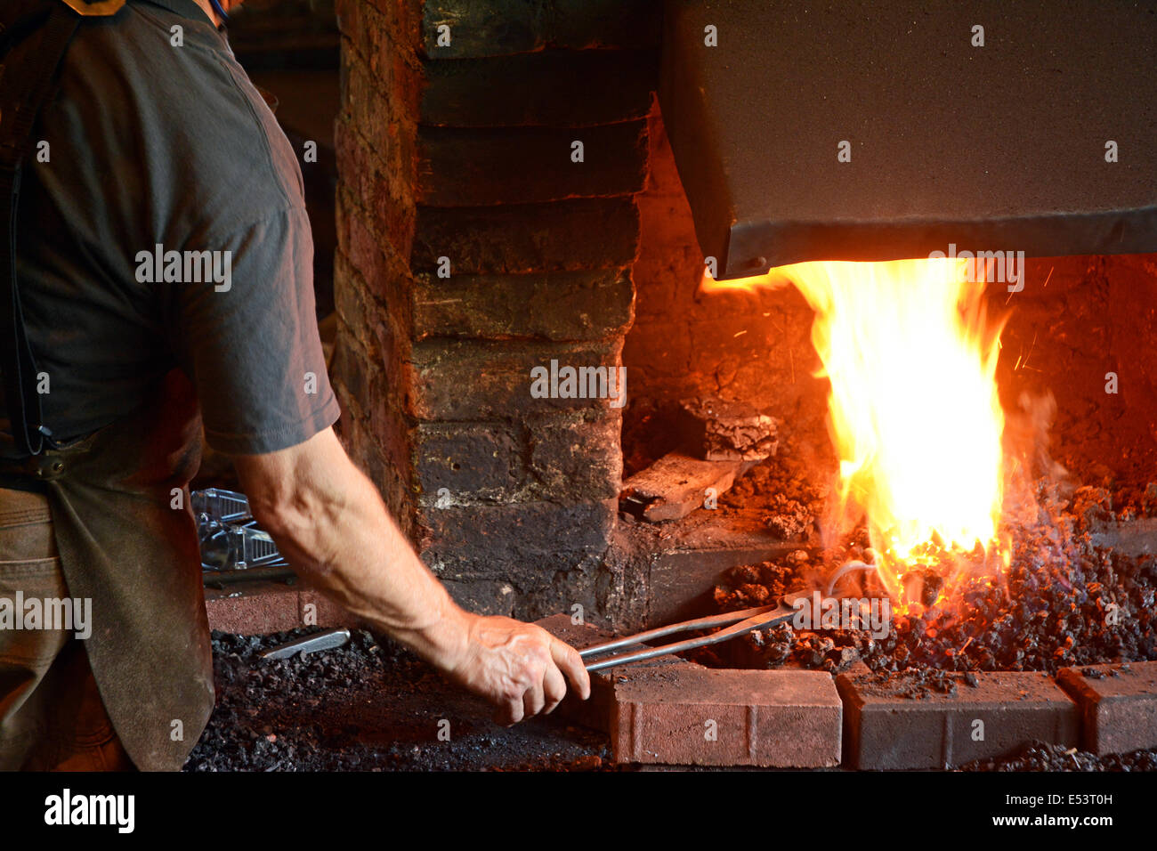 Blacksmith, Traditional occupation, Stock Photo