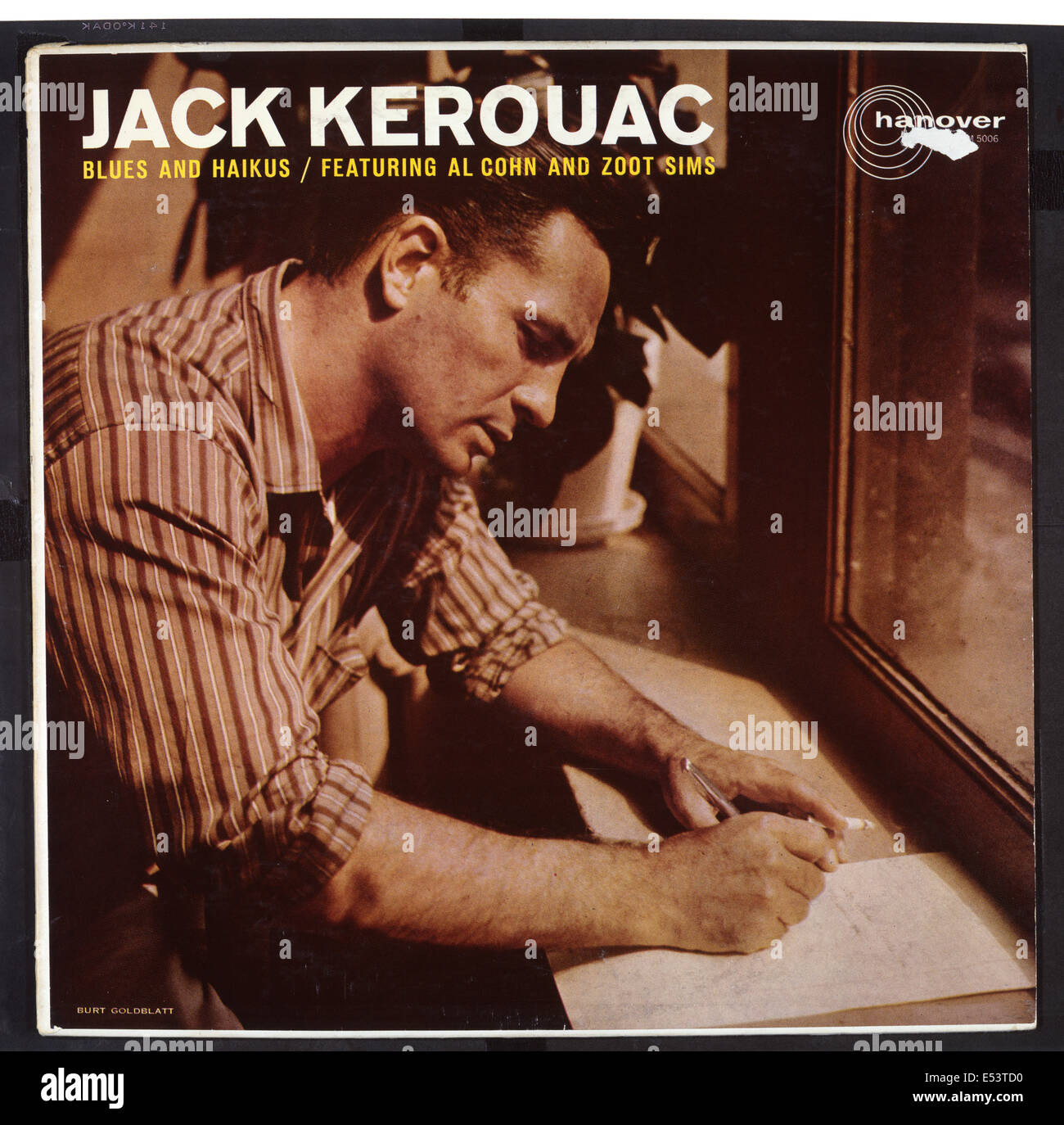 JACK KEROUAC - cover of his 1959 spoken world LP 'Blues and Haikus' (with Al Cohn and Zoot Sims).  Courtesy - Stock Image