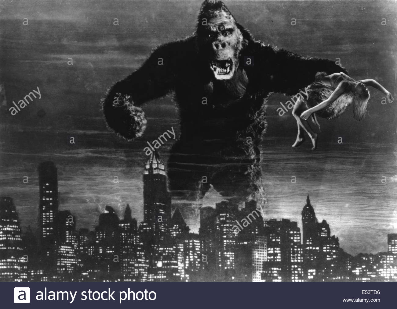 KING KONG (1933) - Courtesy Granamour Weems Collection.  Editorial use only.  Licensee must obtain appropriate permissions - Stock Image