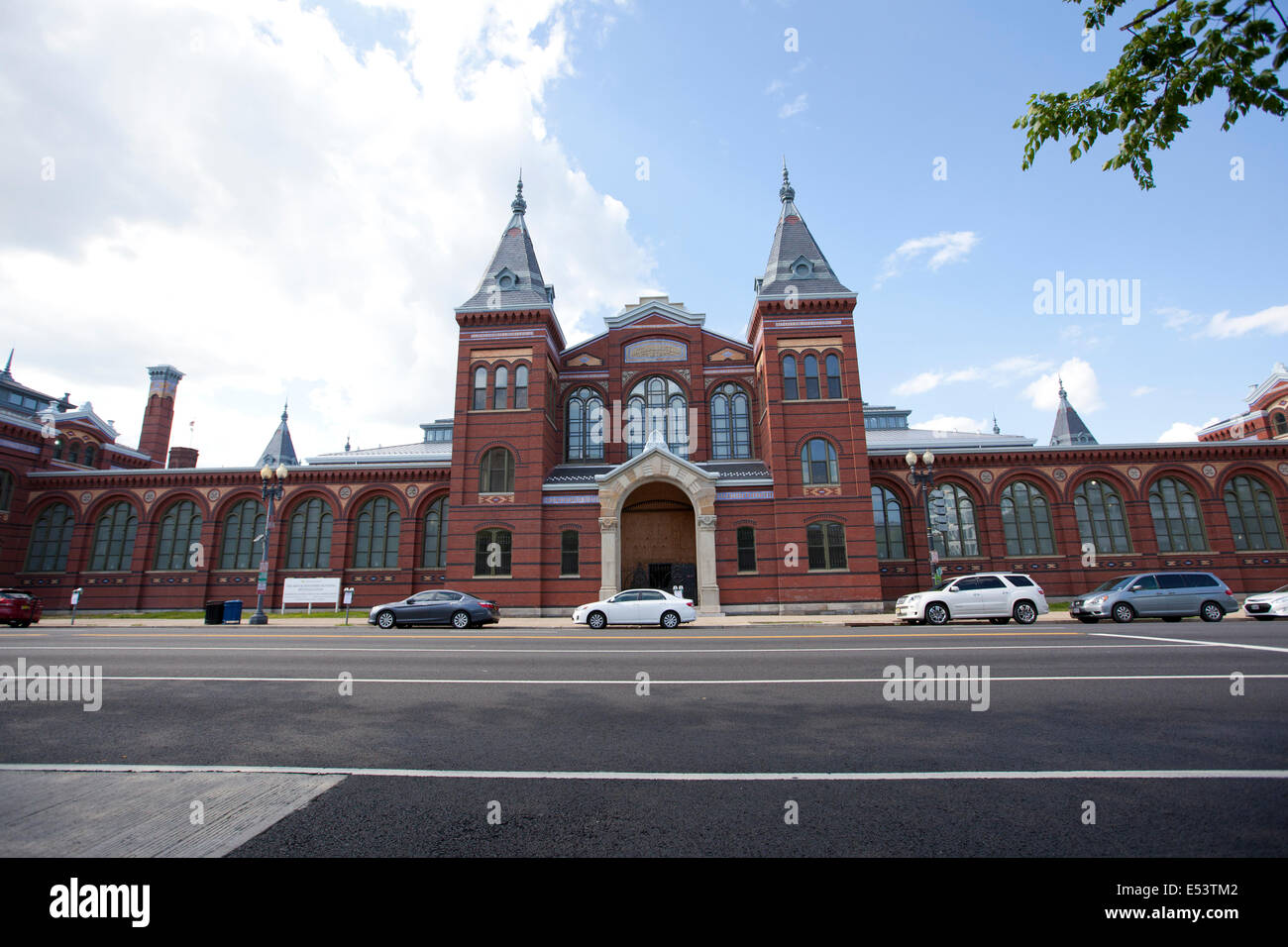 WASHINGTON D.C. - MAY 24, 2014: The Smithsonian National Museum Building was renamed the Arts and Industries Building - Stock Image