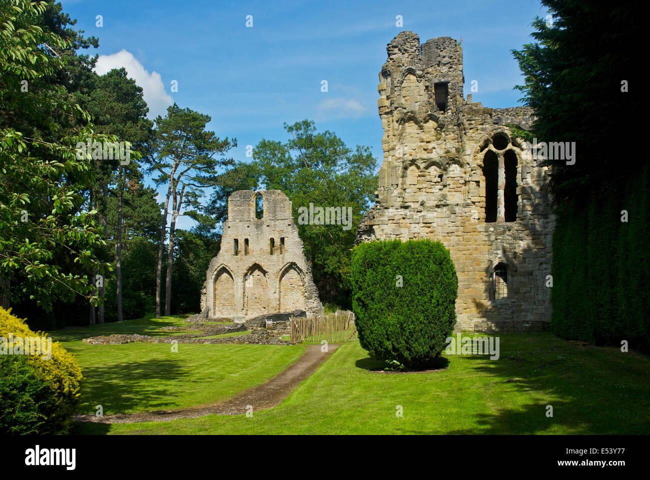 Wenlock Priory, Shropshire, England UK - Stock Image