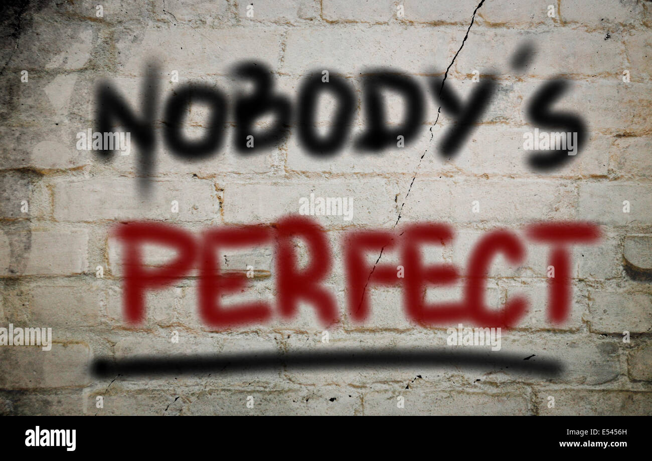 Nobody's Perfect Concept - Stock Image