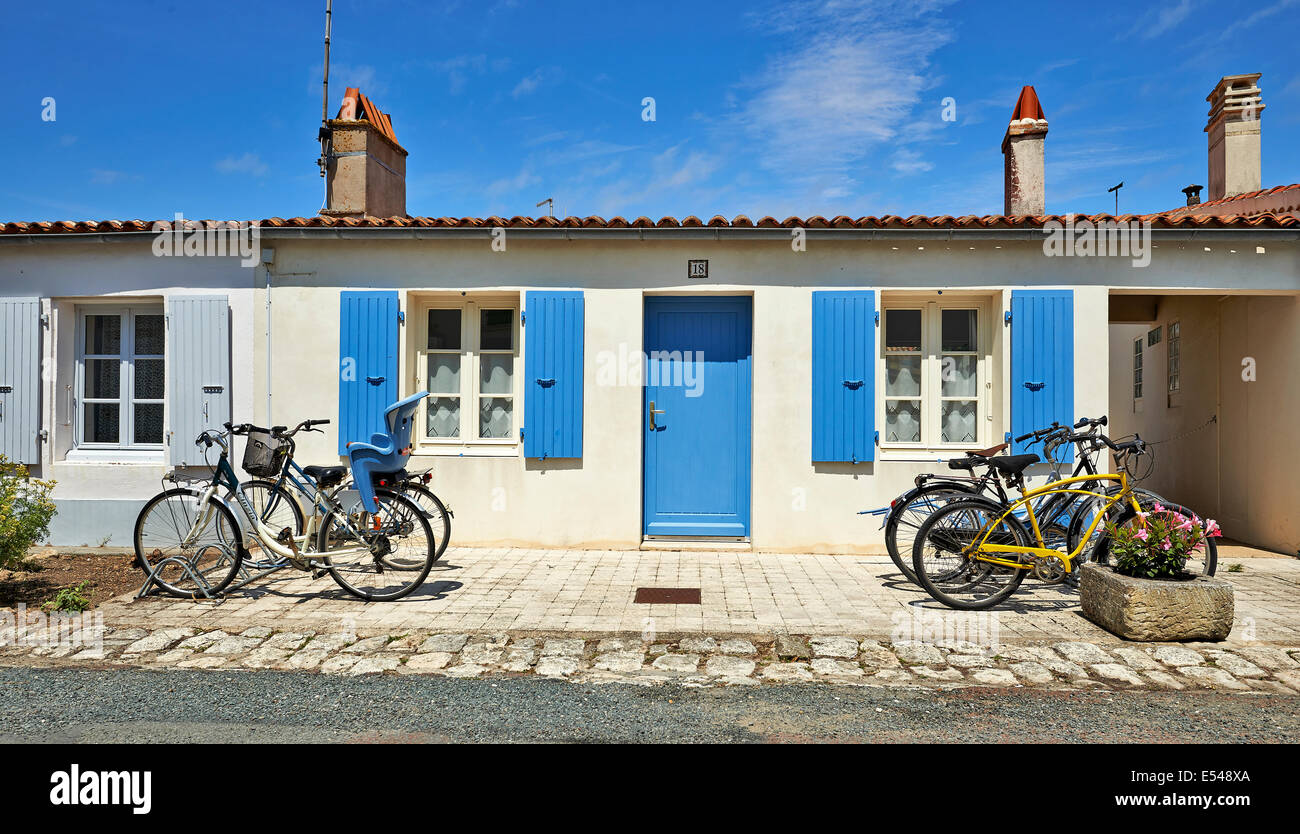 Captivating AIX ISLAND,CHARENTE MARITIME, FRANCE   JULY 11, 2014:Typical House From