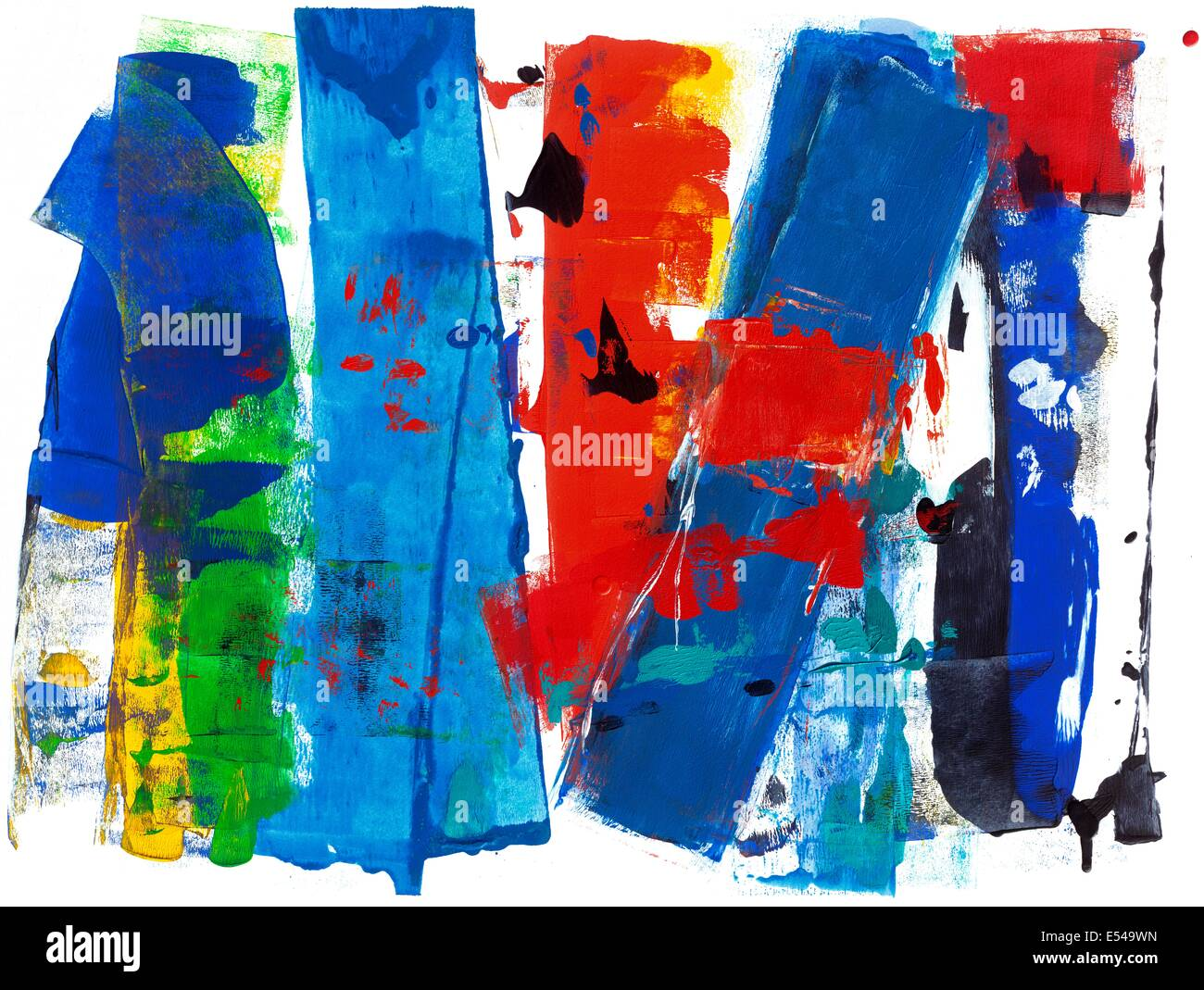 High Society. Multi-colored original abstract art, painting. - Stock Image