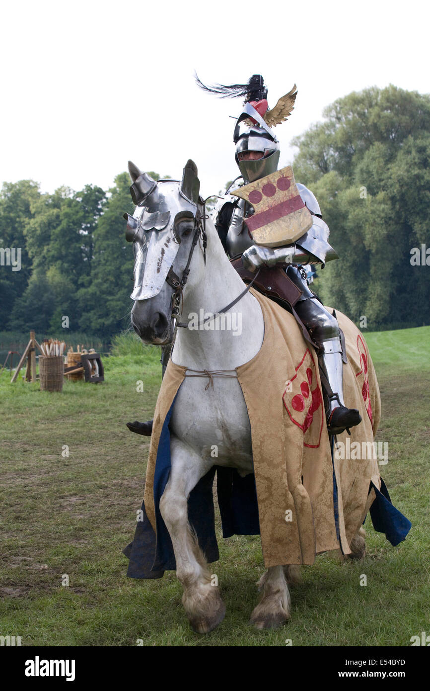 Jousting Medieval Knight - Stock Image