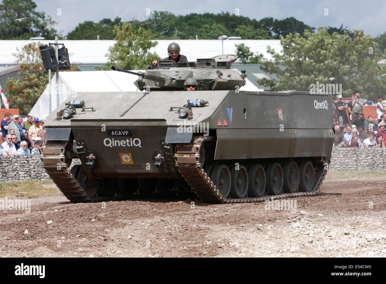 ACAVP Plastic Tank QinetiQ - Bovington Tankfest 2014 - Stock Image