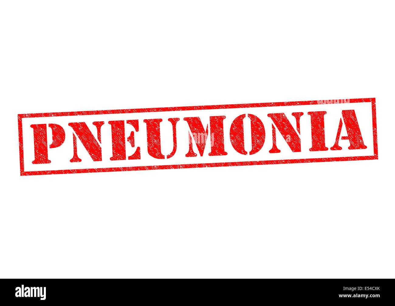 PNEUMONIA red Rubber Stamp over a white background. - Stock Image