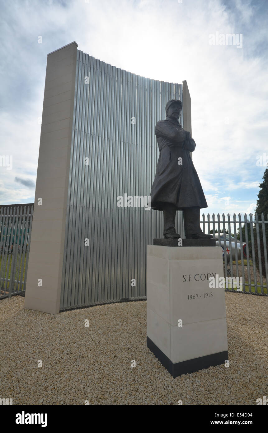 The Samuel F Cody statue was unveiled in August 2013 by the Air Sciences Trust. - Stock Image