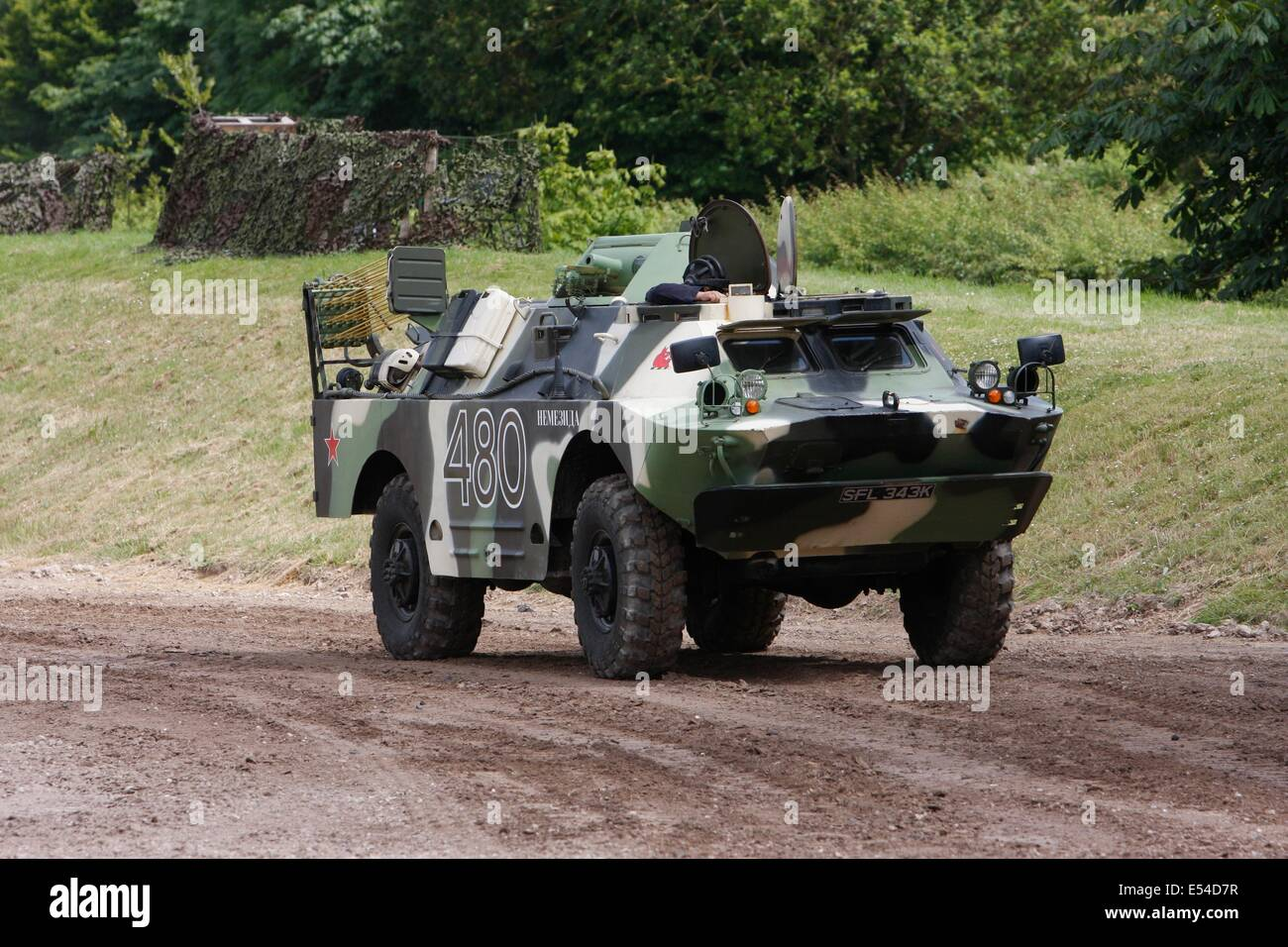BRDM 2 Scout Car - Bovington - Stock Image