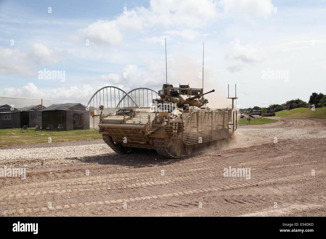 Warrior APC - Bovington - Stock Image