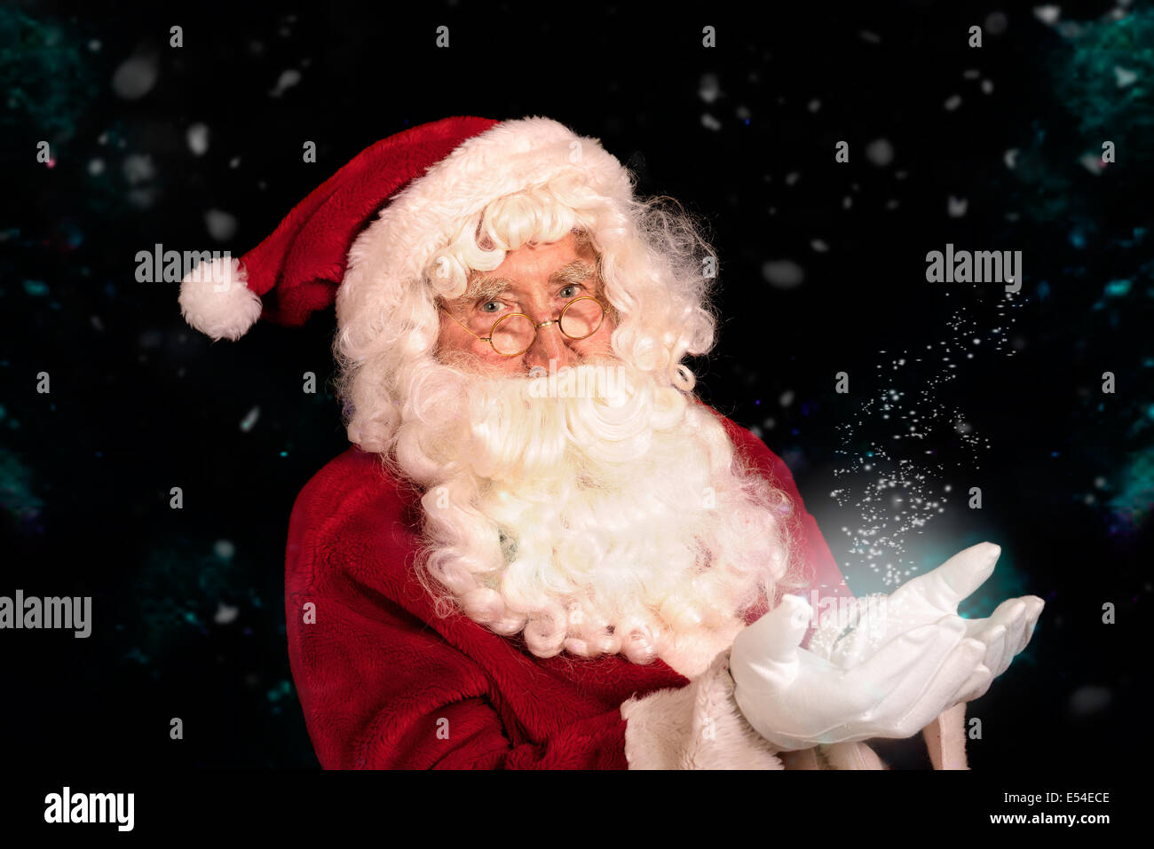 Santa Claus in magical setting - Stock Image