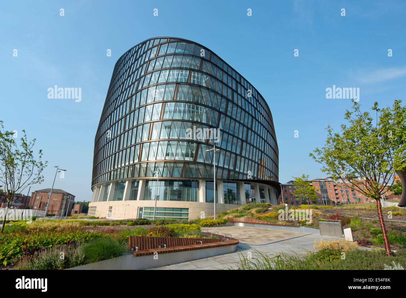 One Angel Square, of the Co-operative Group, is one of the flagship buildings which is part of the NOMA complex Stock Photo